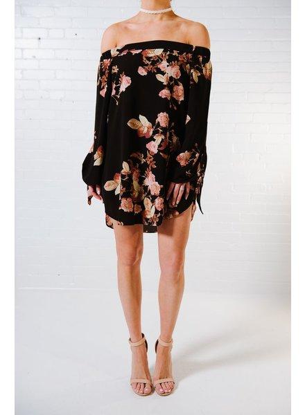 Mini Black floral print OTS mini
