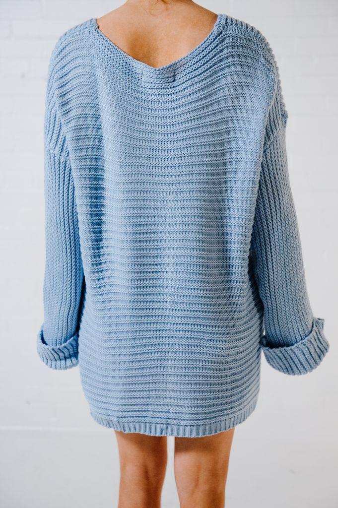 Sweater Sky blue oversized chunky knit