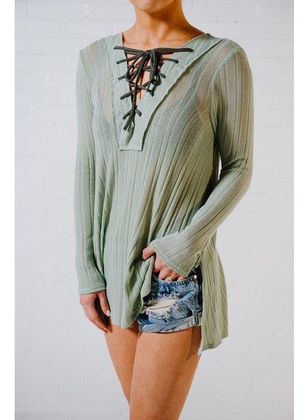 Tunic Mint lace front tunic