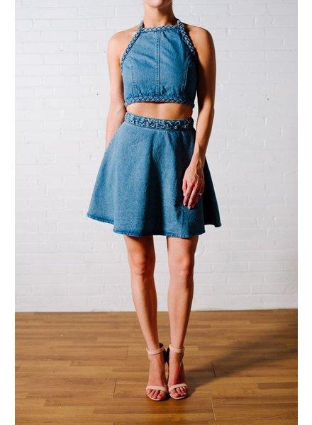 Skirt Braided denim skirt