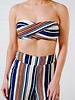 Crop Striped bandeau top *MATCHING PANTS SOLD SEPARATELY