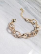 Dressy Gold rhinestone link bracelet