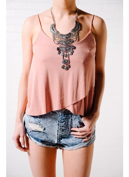 Tank Dusty rose jersey tank