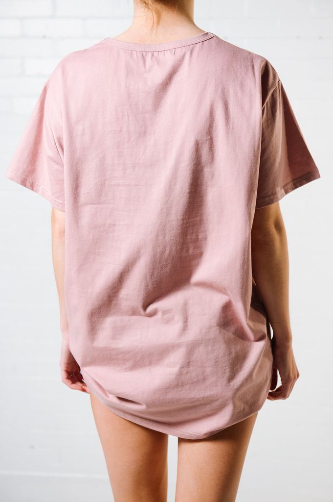 T-shirt Dusty pink ladder tee