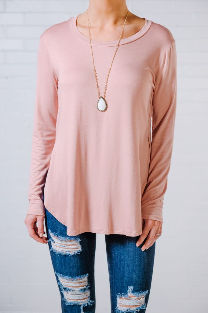 T-shirt Dusty pink basic tee