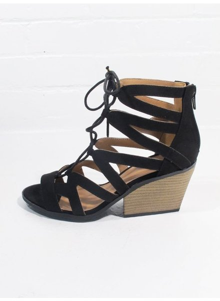 Wedge Caged lace up wedge