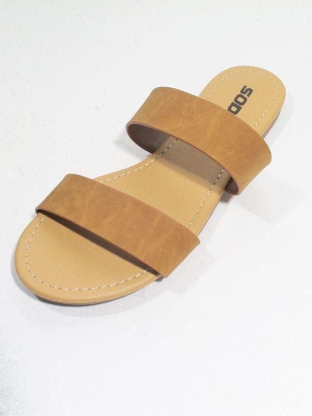 Sandal Chestnut double strap slide