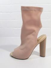 Bootie Nude sock style bootie