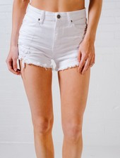 Shorts Destroyed white denim cutoffs