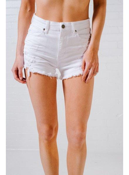 Shorts Destroyed white denim cutoffs
