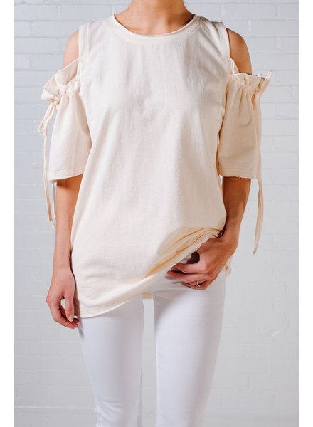 Sweatshirt Cream tie sleeve pullover