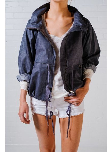 Casual Dark denim cargo style jacket *BACK IN STOCK