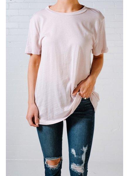T-shirt Light pink open back tee