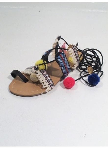 Sandal Boho pom sandal