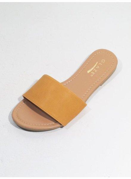Sandal Cognac slide