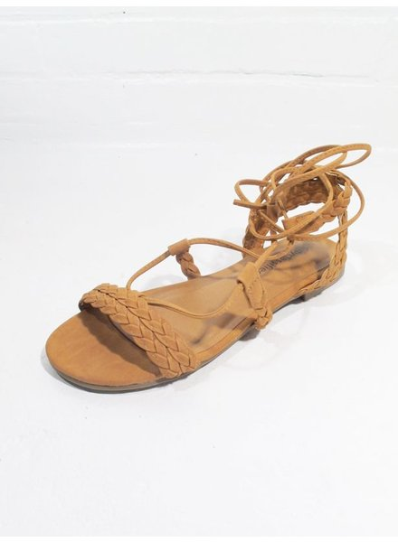 Sandal Braided lace up sandal