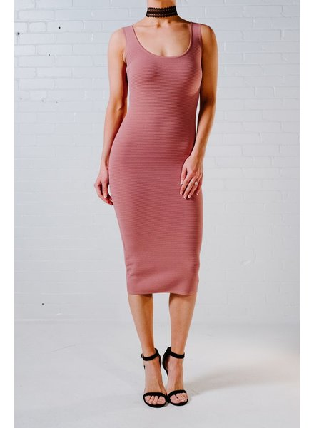 Midi Dusty rose bodycon midi