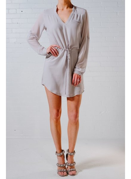 Mini Silver shirt dress