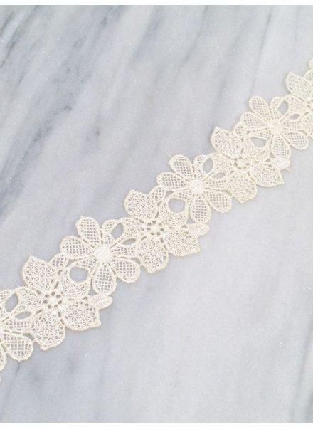 Choker Ivory floral lace choker