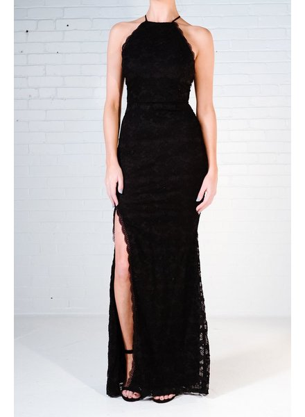 Maxi Black lace bodycon maxi