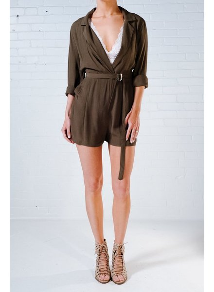 Casual Olive wrap style romper