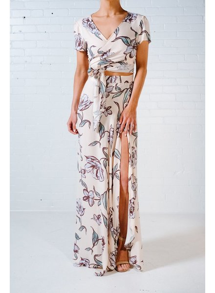 Crop Blush floral wrap crop *MATCHING SKIRT SOLD SEPARATELY
