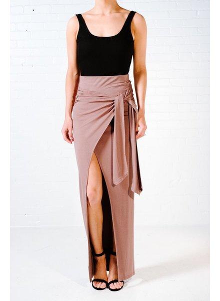 Skirt Mocha wrap skirt