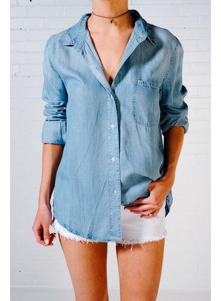 Blouse Medium wash chambray blouse