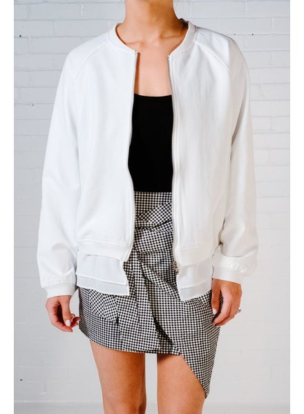 Lightweight White bomber jacket