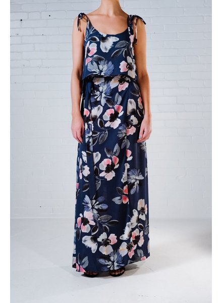 Maxi Blue floral maxi skirt *MATCHING TOP SOLD SEPARATELY