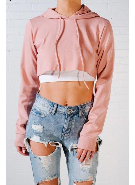 Sweatshirt Rose crop hoodie