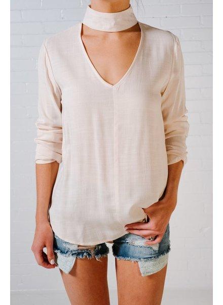 Blouse Natural choker neck blouse