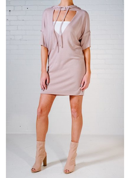 Mini Hooded sweatshirt dress