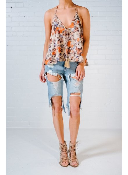 Shorts Destroyed denim boyfriend shorts