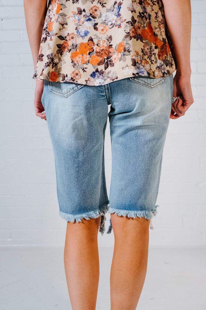 Shorts Destroyed denim boyfriend shorts