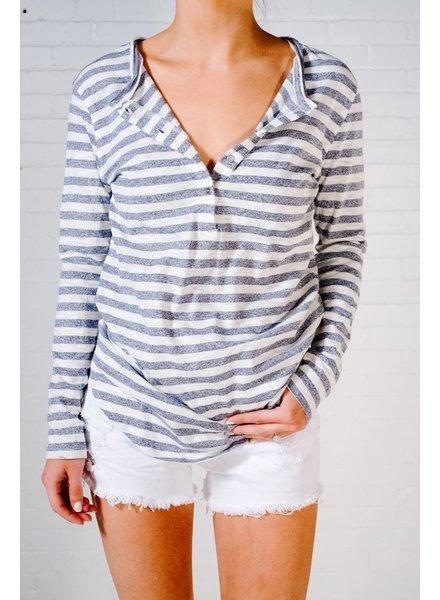 T-shirt Nautical striped henley