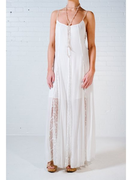 Maxi Side laced maxi dress