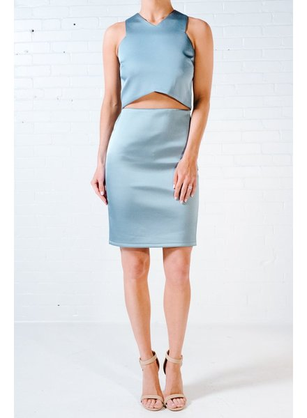 Crop Seafoam satin crop *MATCHING SKIRT SOLD SEPARATELY