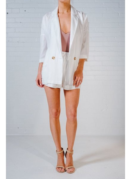 Shorts Ivory high waisted drawstring shorts *MATCHING BLAZER SOLD SEPARATELY