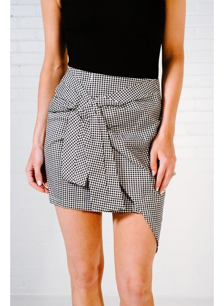 Skirt Gingham bow skirt