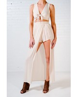 Skirt Beige maxi skort *MATCHING TOP SOLD SEPARATELY