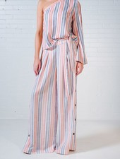 Pants Striped wide leg button side pants *MATCHING TOP SOLD SEPARATELY