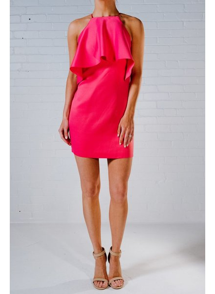 Dressy Fushia ruffled mini