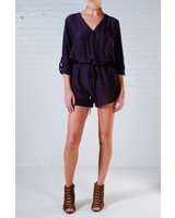 Casual Navy wrap romper