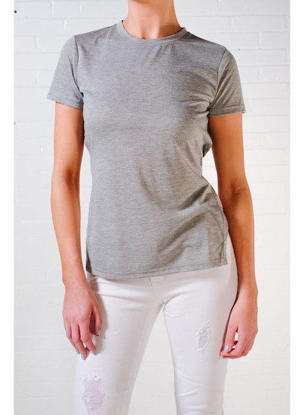 T-shirt Grey tie back tee