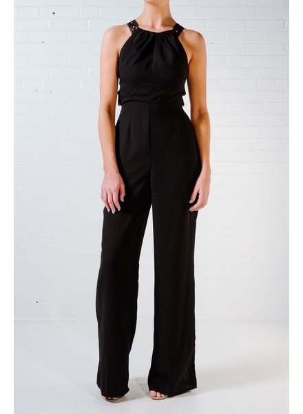 Jumpsuit Black halter jumpsuit