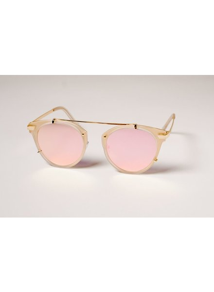 Sunglasses Pink mirrored floating pilots