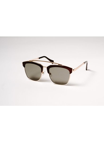 Sunglasses Black and gold oversized clubmasters