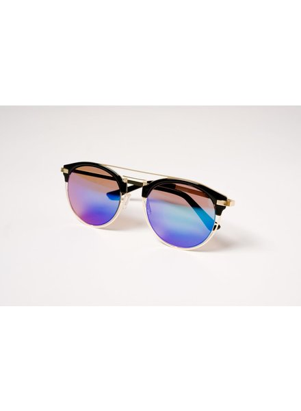 Sunglasses Blue mirrored clubmasters