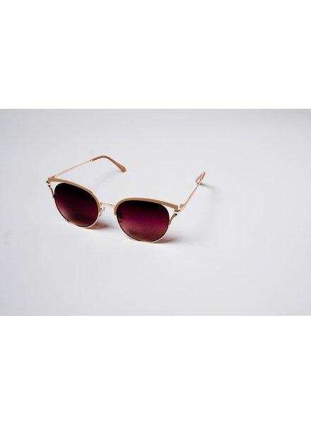 Sunglasses Nude trim gold aviators